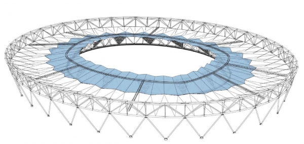Olympic Stadium roof design