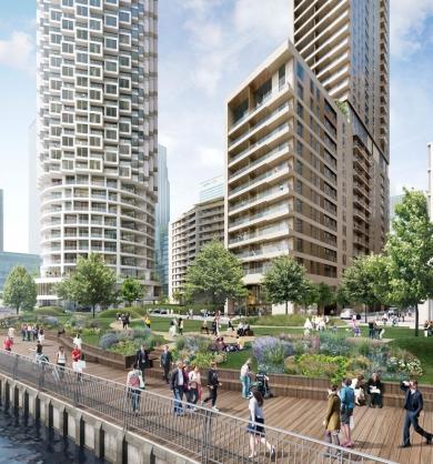 Canary-Wharf wood wharf