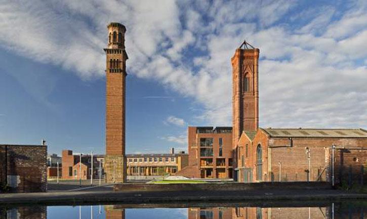 Tower works site in Leeds