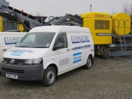 Hodge Plant Service van and power crusher