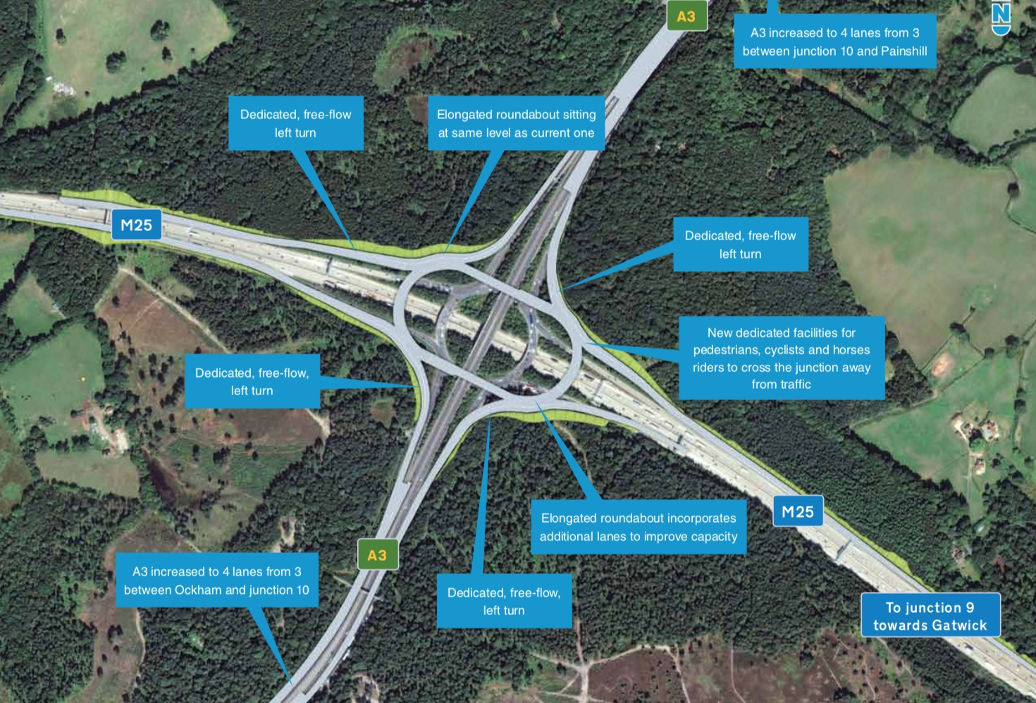 175m m25 a3 junction revamp plan decided construction enquirer the m25a3 interchange is a key congestion pinch point on the strategic road network and has one of the highest recorded collision rates across the highways publicscrutiny Image collections