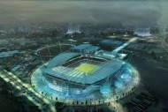 Manchester City Etihad stadium AER3_Polycarb_Current with badge credit Populous-1