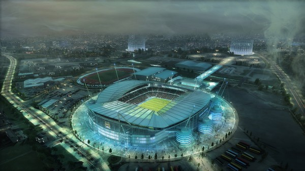 Manchester City Etihad stadium AER3_Polycarb_Current with badge credit Populous