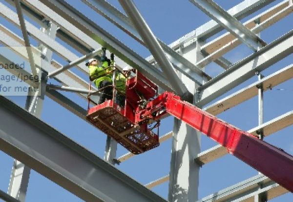 Steelwork steel construction workers theme