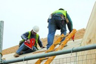 Roofers-working roofing