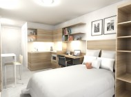 Royal College of Music - artist's impression - studio bedroom