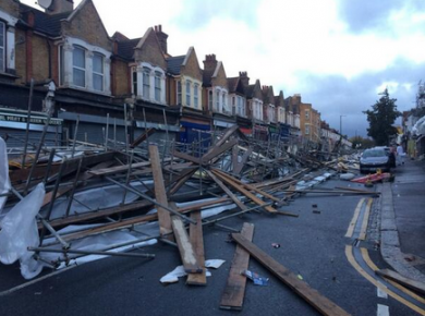 Leyton scaffold collapse