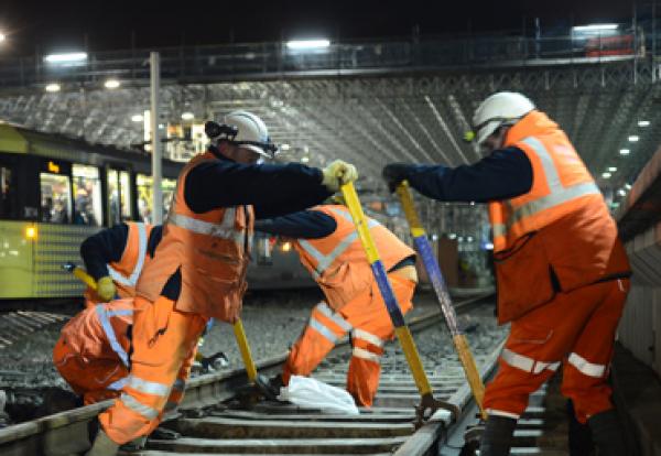 Rail work workers railway theme