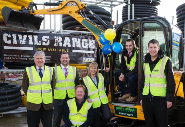 White Horse Contractors wins £30k JCB mini excavator