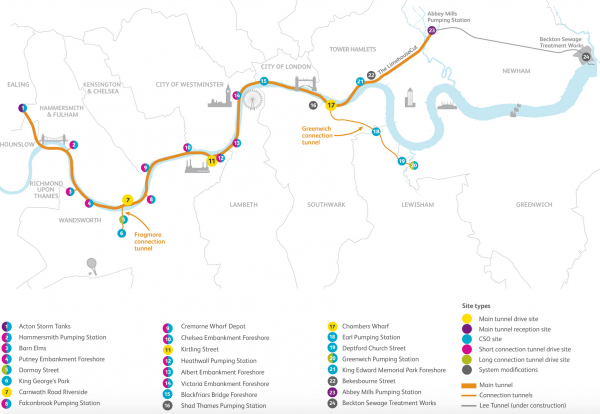 AECOM lands largest stretch of London super sewer