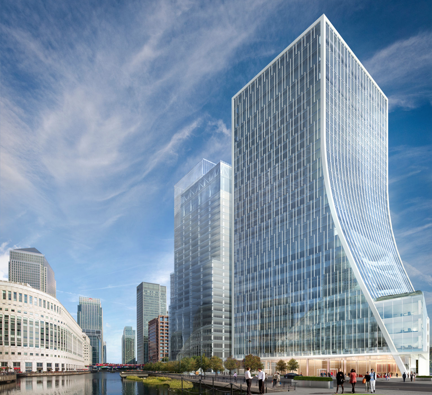 Canary Wharf Wins Planning For Two Office Towers Newell
