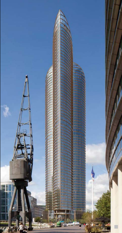 Chinese Submit 67 Floor Canary Wharf Resi Tower