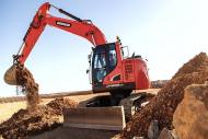 Doosan Stage IV compliant 24-tonne DX235LCR-5 reduced radius crawler excavators
