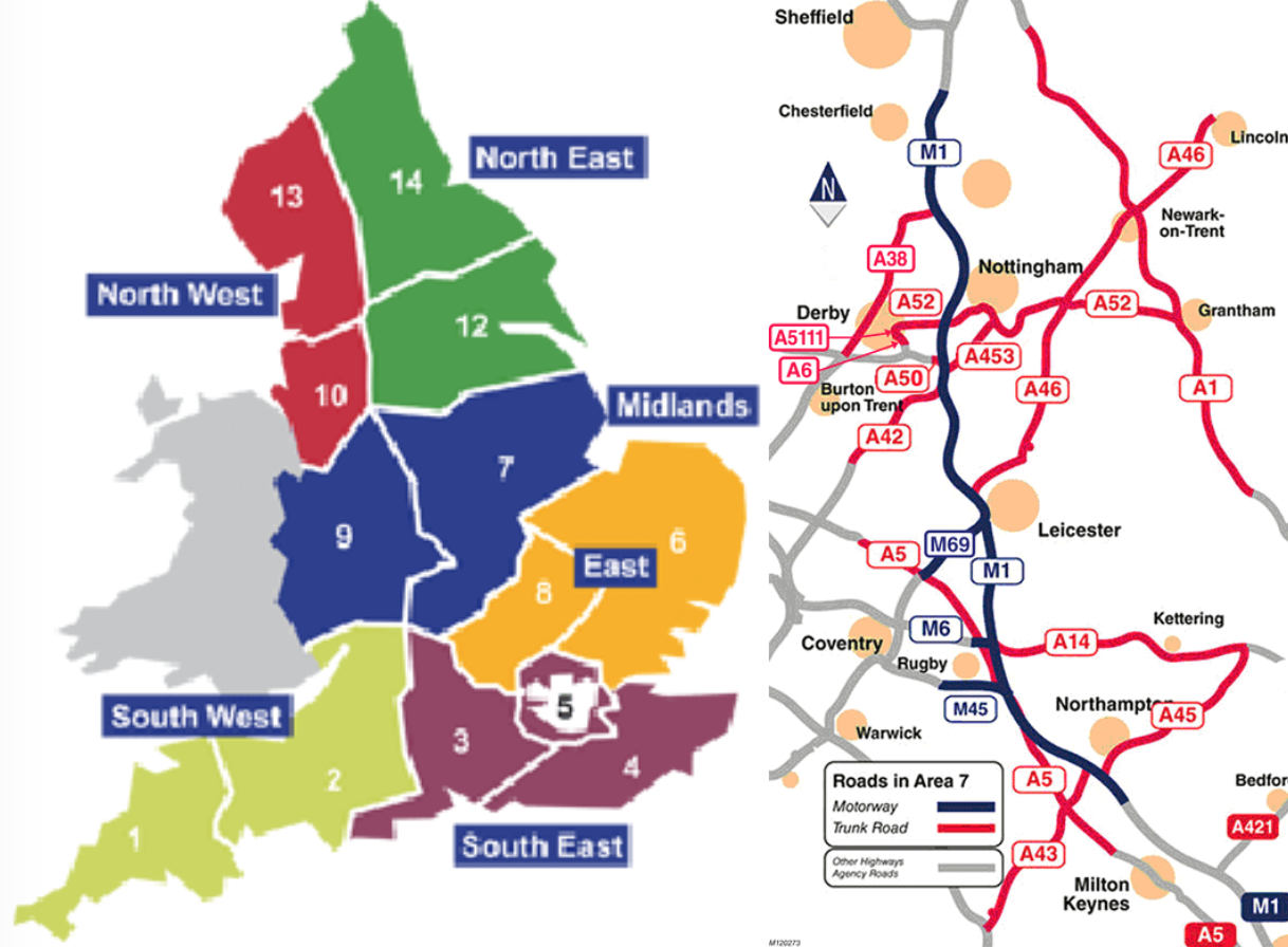 Motorway Map Of England.Amey Wins New Style Highways England Maintenance Deal Construction