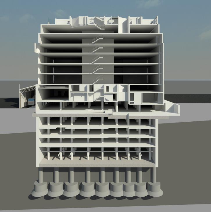 Mcgee set for 5 floor claridges mega basement for Basement foundation construction