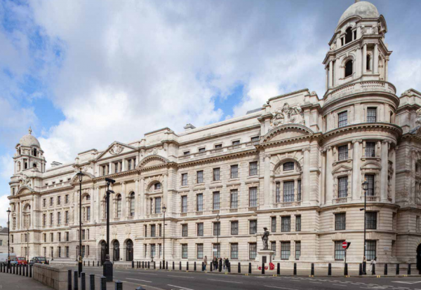 The former headquarters of the British army, located at the junction of Horse Guards Avenue and Whitehall, has a rich history with Winston Churchill among the many famous figures to work there