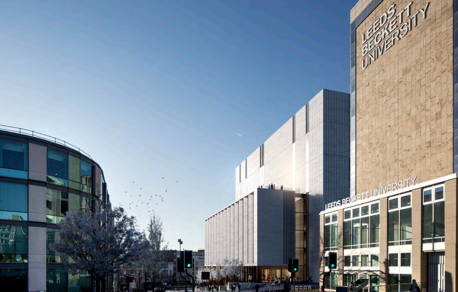Open Foyer University : Leeds beckett £ m arts building go ahead construction