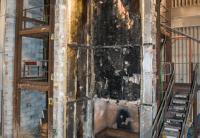 Phenolic foam board fire test