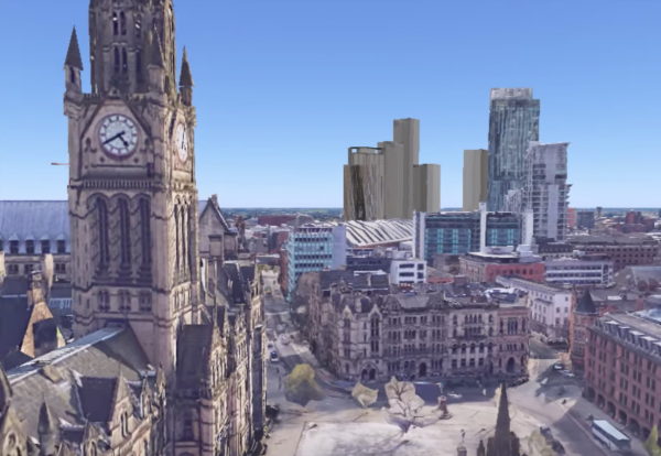 Visualisation of planned central Manchester schemes (see video below)