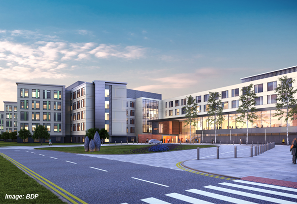 Laing O'Rourke with cost consultant Gleeds have been confirmed as the delivery team for a £350m super hospital on the site of the former Llanfrechfa Grange Hospital outside Cwmbran