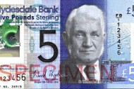 The Clydesdale Bank's plastic £5 note, due out next year