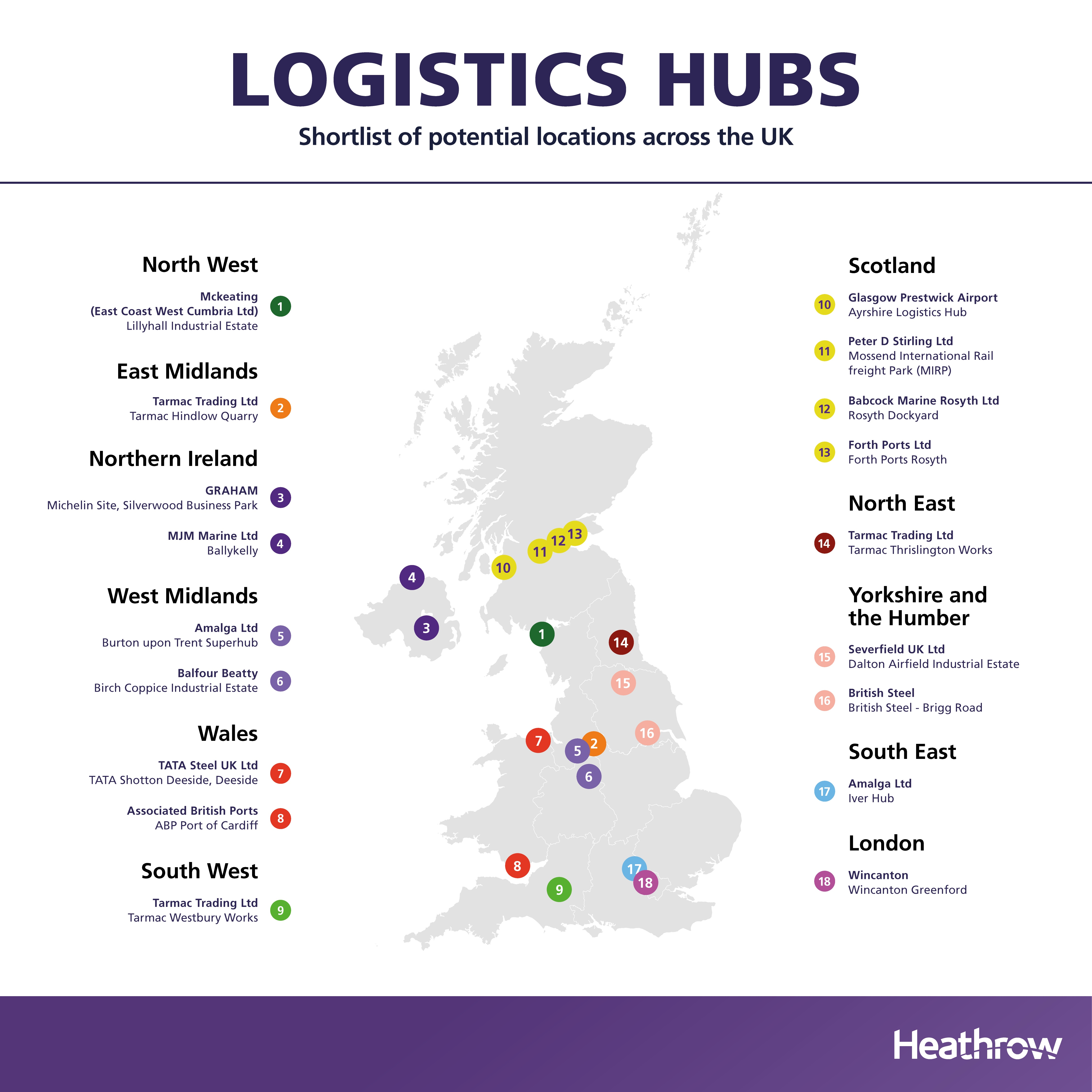 Heathrow reveals 18-strong shortlist of construction sites for third runway expansion