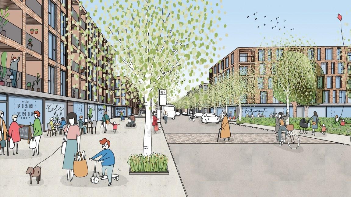 Sheerwater-estate plan