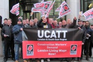 ucatt living wage protest