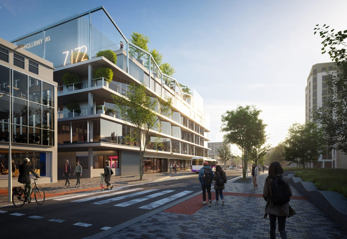 Building will feature advanced digital connectivity, a roof terrace, and balconies overlooking Swansea Bay
