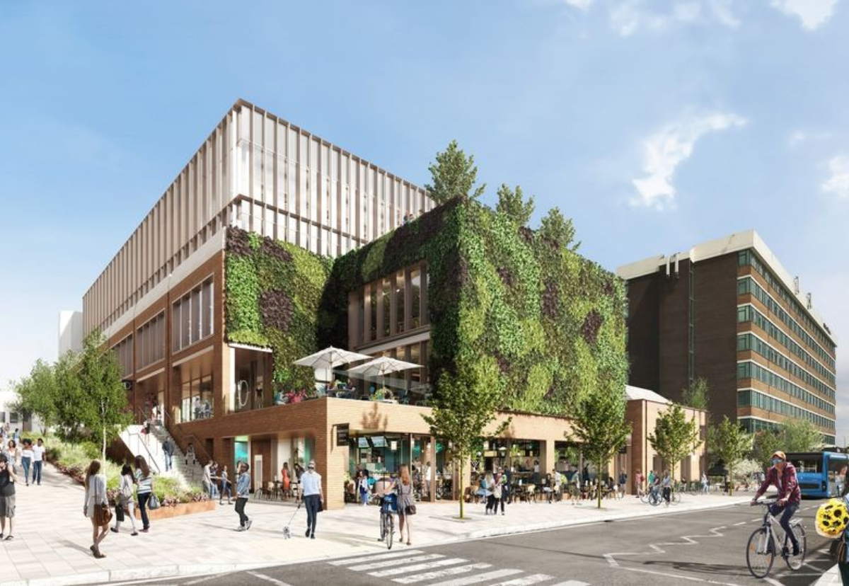Rackman's building to include a 340 sq m living wall to provide oxygen and help reduce noise levels