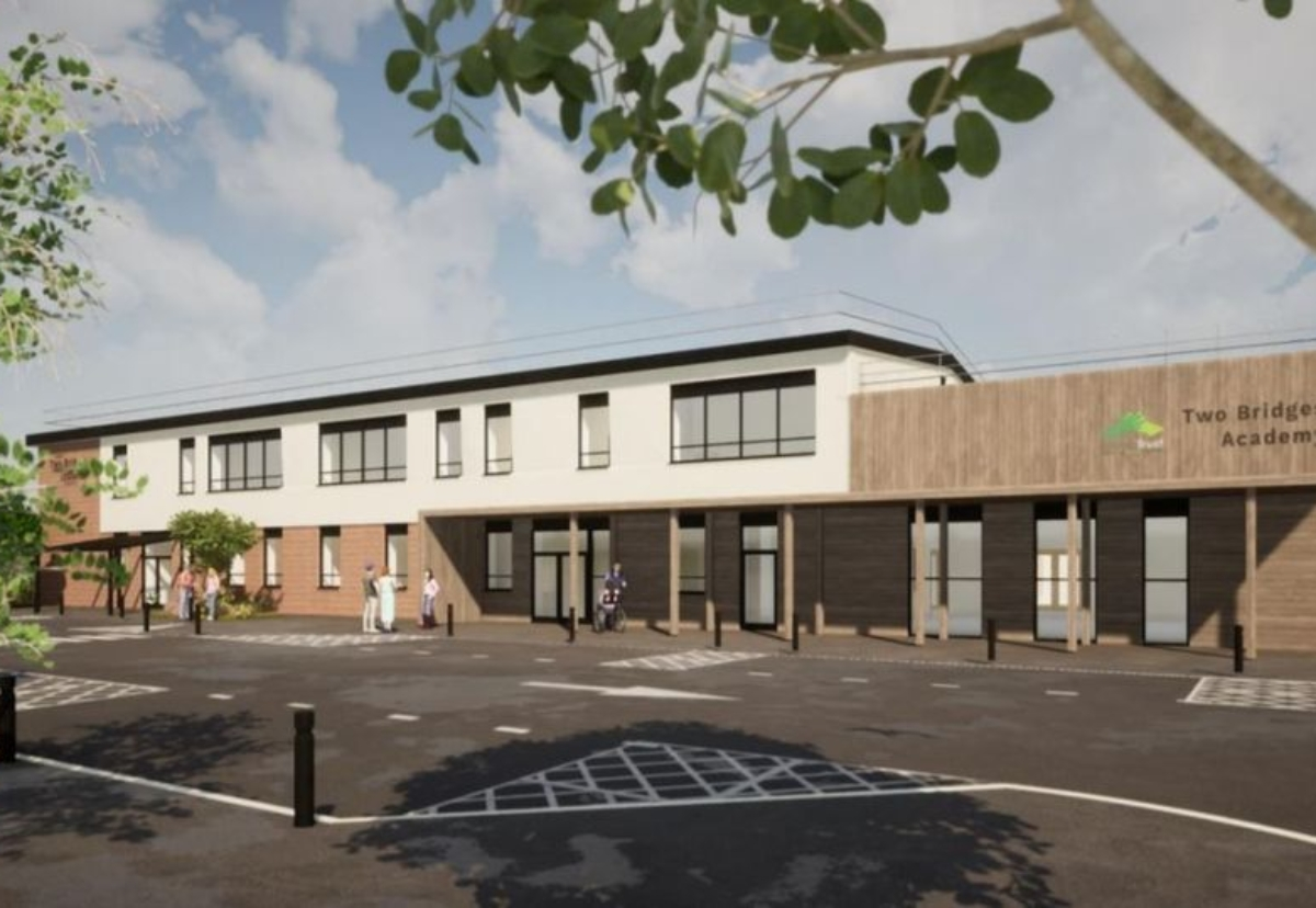 Planned Two Bridges Academy special school in Alveston, South Gloucestershire