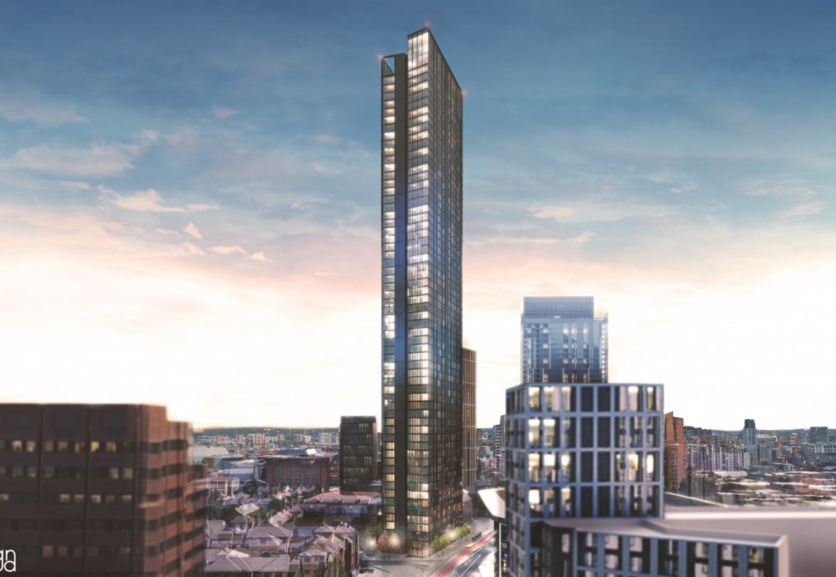 193m tall with a slim profile will be built at 100 Broad Street