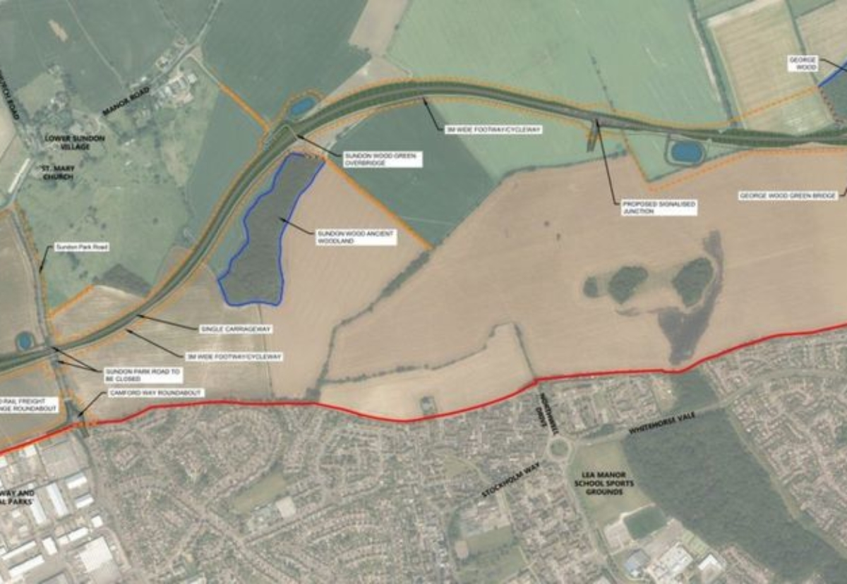 The new road would be 2.75 miles long and could create part of a northern bypass for Luton