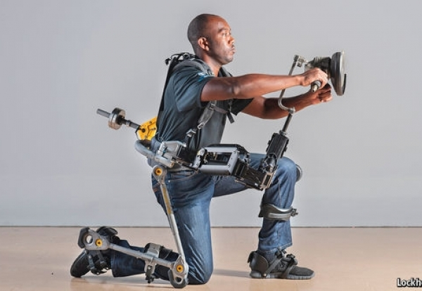 The few key workers left on site will be aided by advanced exoskeletons
