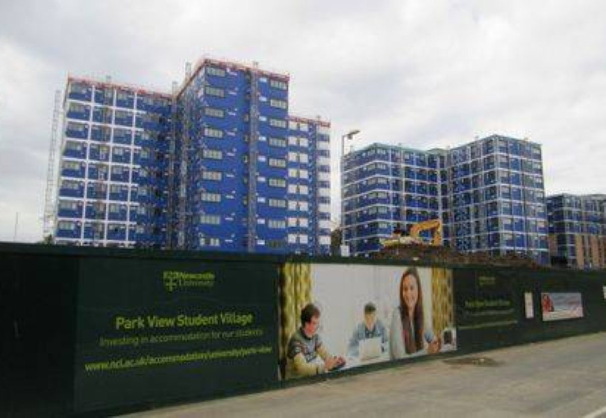 CIMC modules were used for a £75m student accommodation project built by Galliford Try for Newcastle University