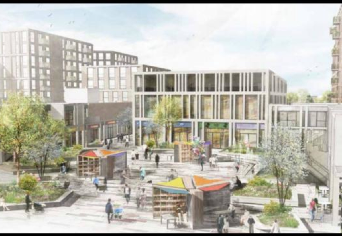 The Swanley town centre project is designed by HLM Architects