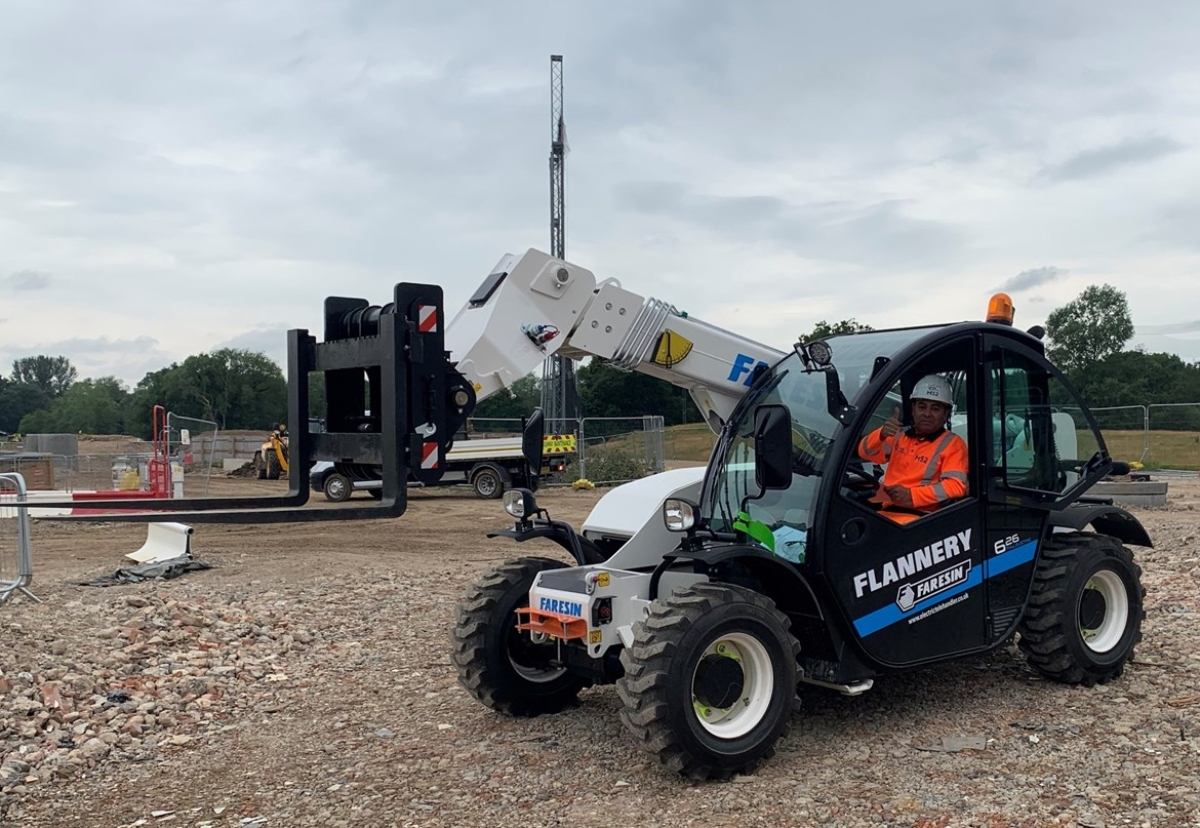 Eco Telehandler supplied by Flannery to HS2