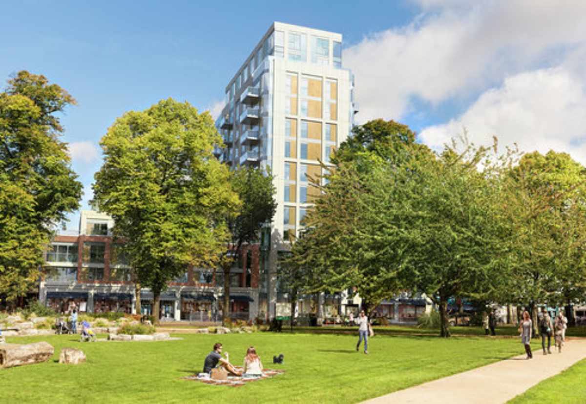 Chiswick High Road office to flats scheme designed by Assael Architecture,