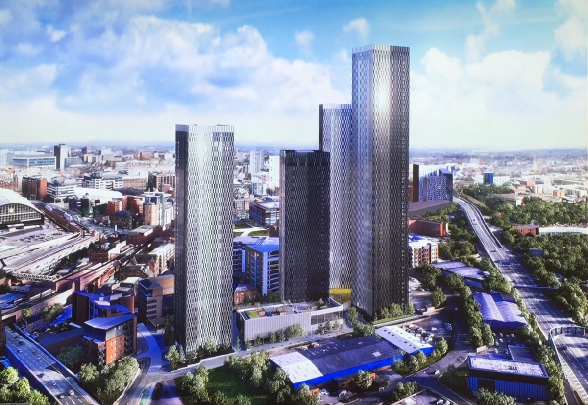 The four towers will range from 37 storeys to 64 storeys high