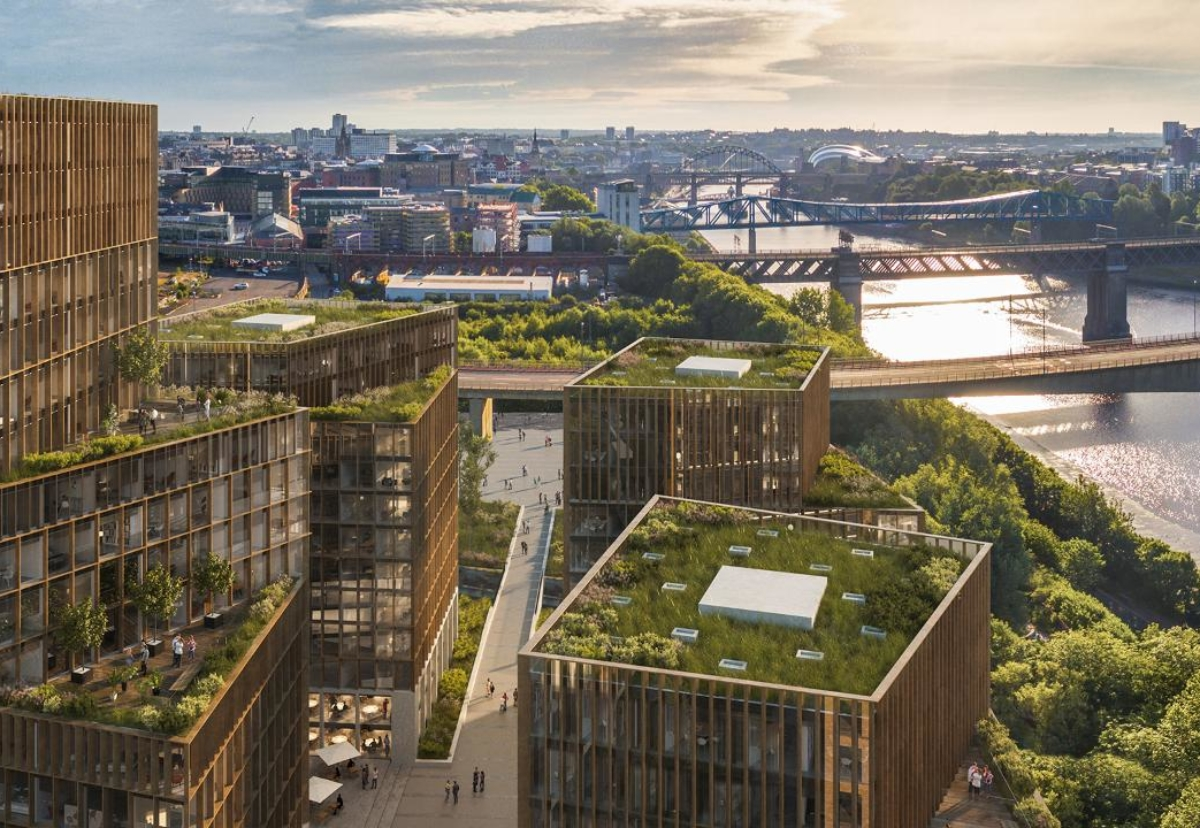 Outline planning submitted for land mark urban regeneration scheme along banks of the Tyne