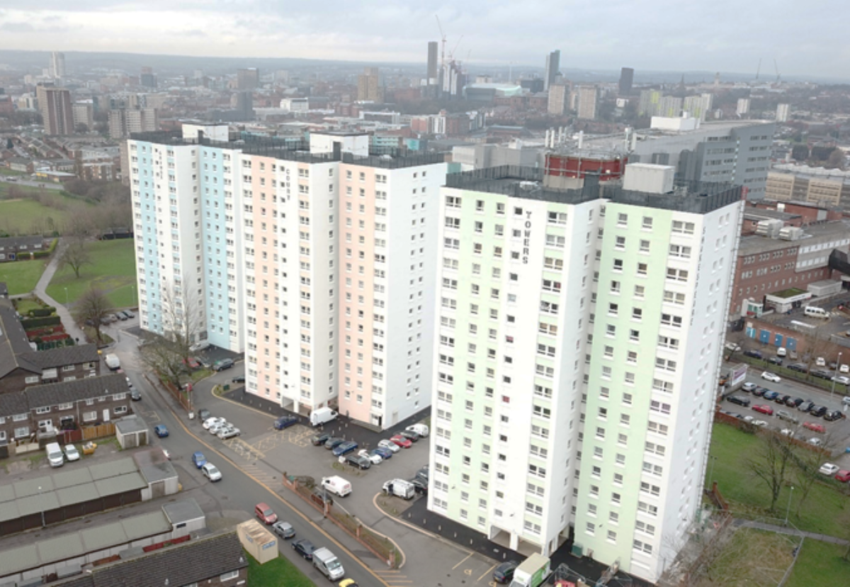 Shakespeare Towers, Grange and Court after recent works to improve energy efficiency of the buildings