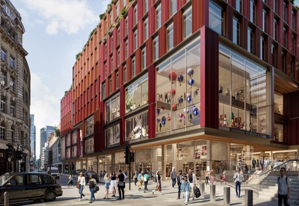 1-2 Broadgate rebuild will see shops and leisure space spread across four floors of new building