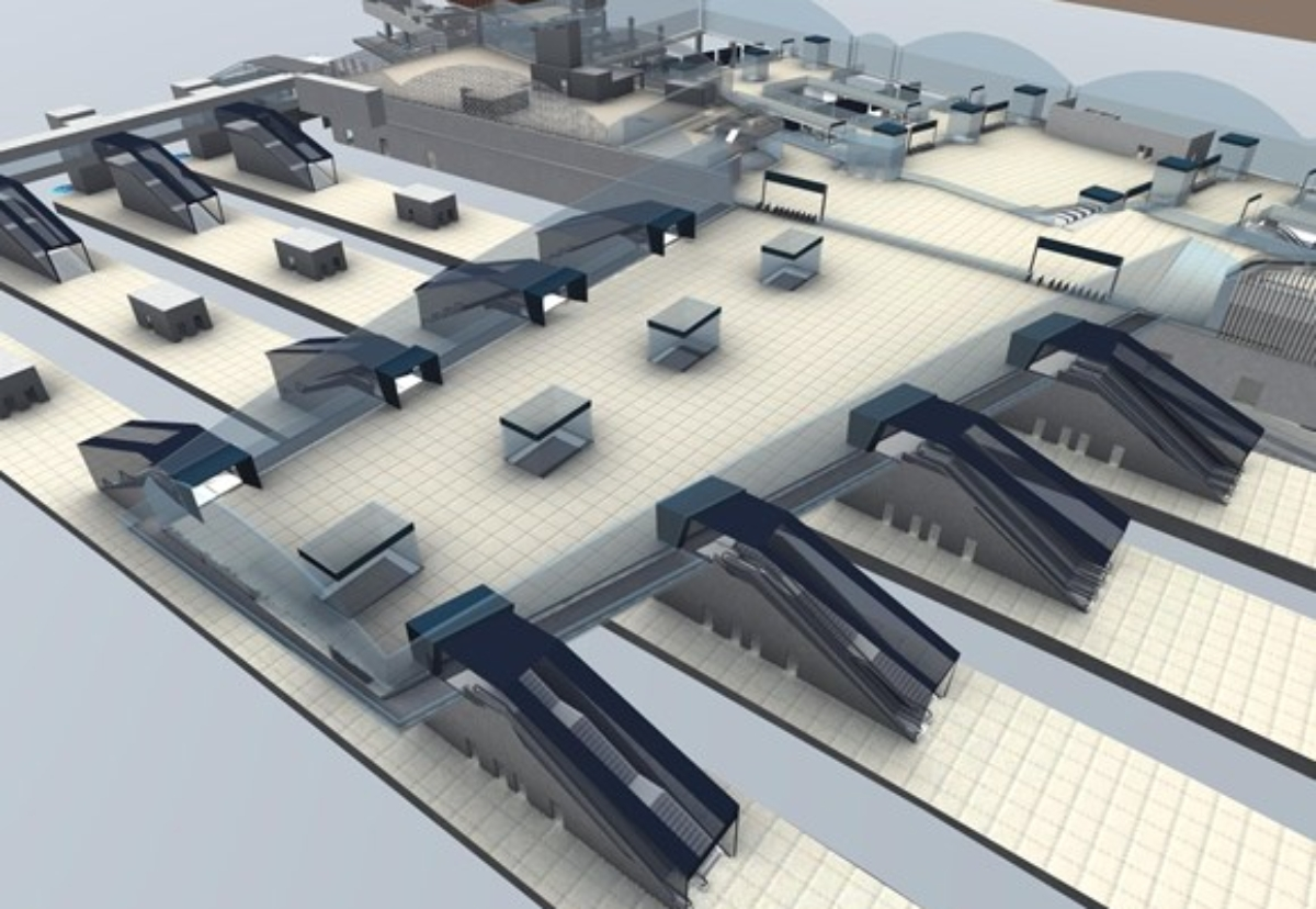 Lifts and escalators design for Old Oak Common