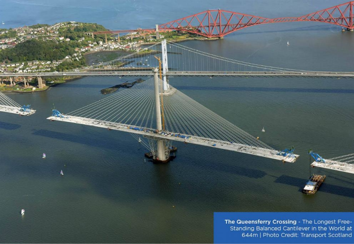 The structure will become the longest three-tower, cable-stayed bridge in the world