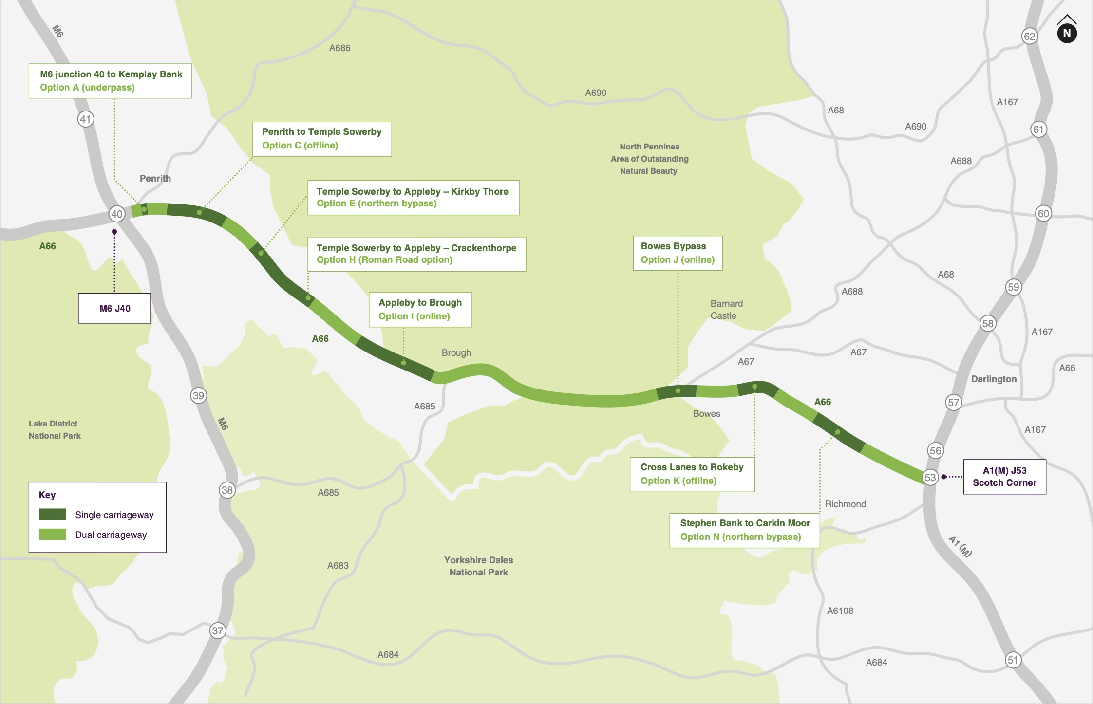 A66 TransPennine £1bn upgrade route picked