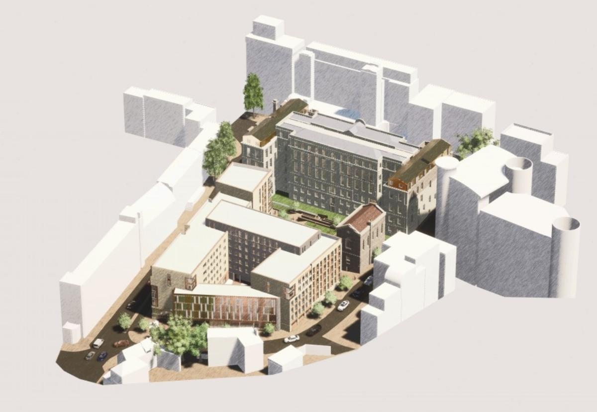 Marlborough Street scheme involves part restoration of the former Georgian hospital and demolition to make way for new blocks