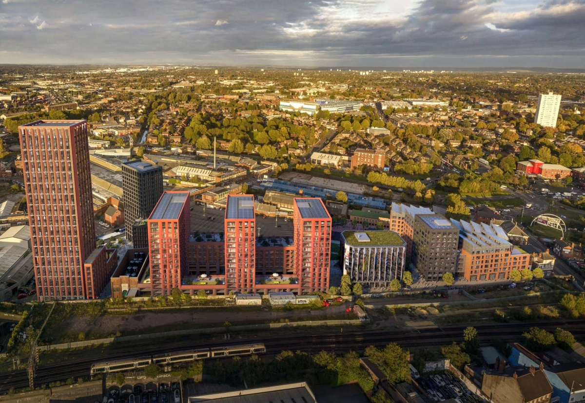 Upper Trinity Street development in Digbeth designed by Corstorphine + Wright Architects