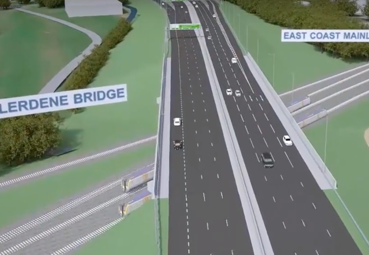 Allerdene railway bridge over East Coast mainline to be replaced