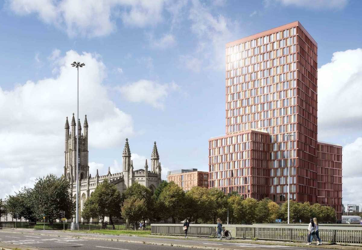 Architect SimpsonHaugh designed the scheme which is Logik's first in Manchester