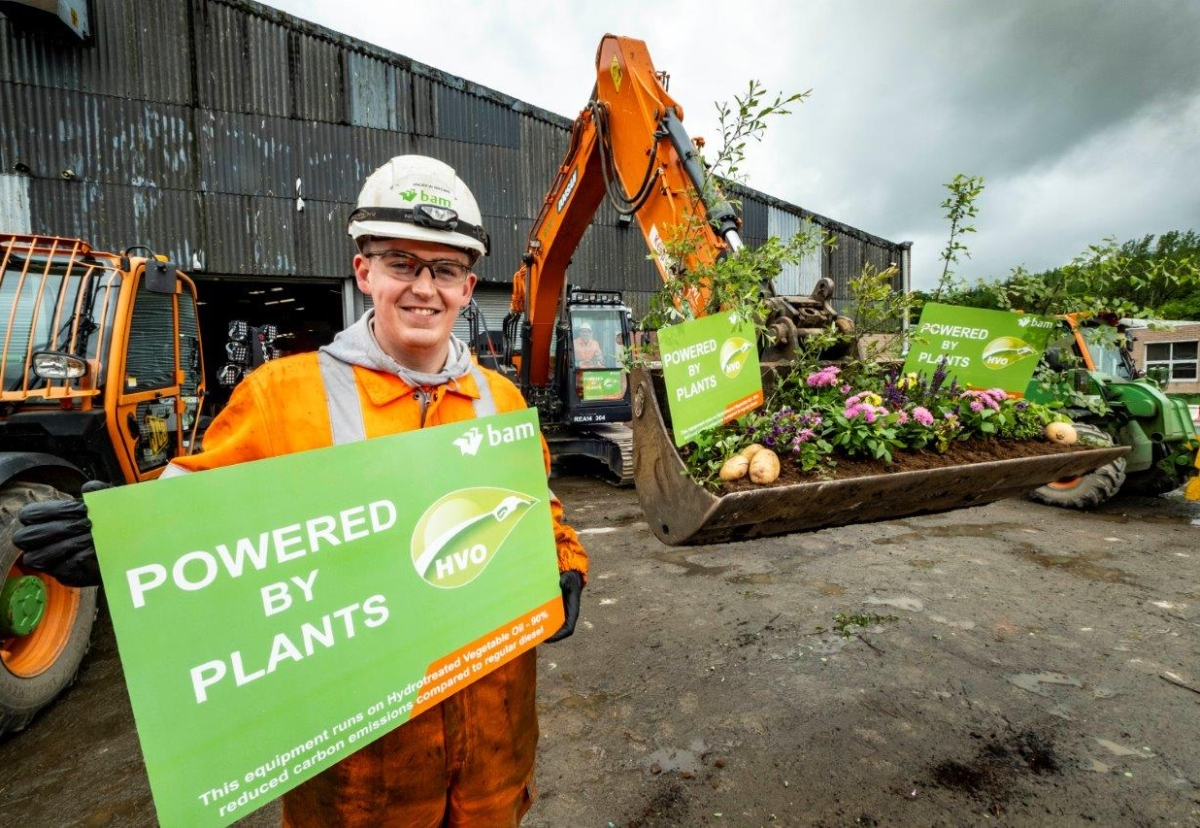 BAM adopts Powered by plants initiative across UK business
